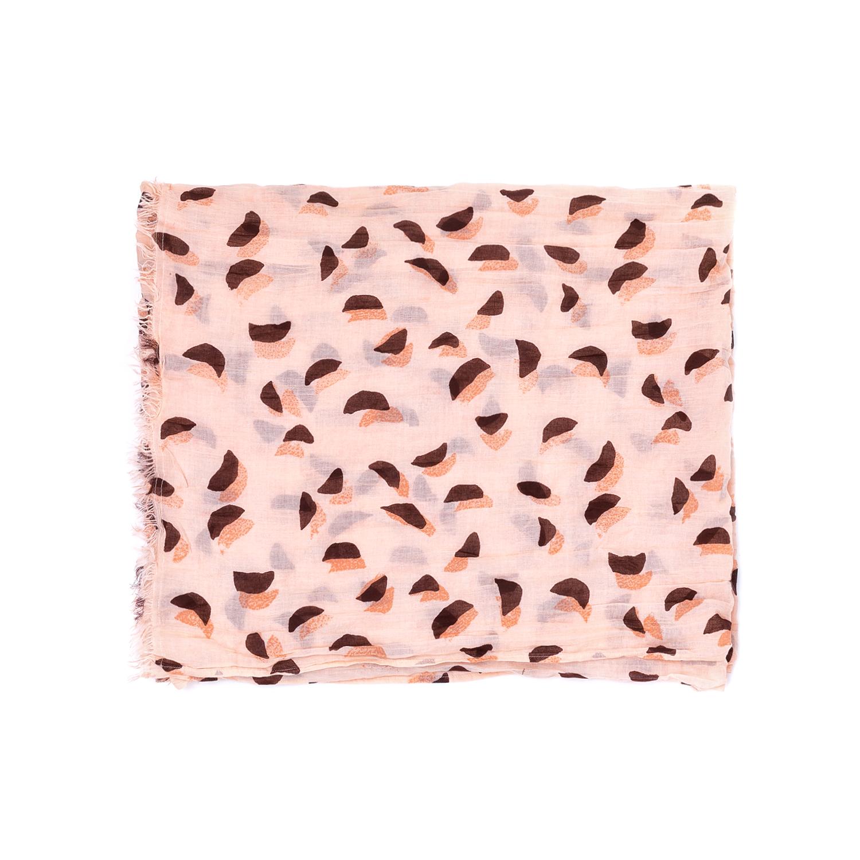 SCOTCH & SODA - Γυναικείο φουλάρι MAISON SCOTCH ροζ γυναικεία αξεσουάρ φουλάρια κασκόλ γάντια