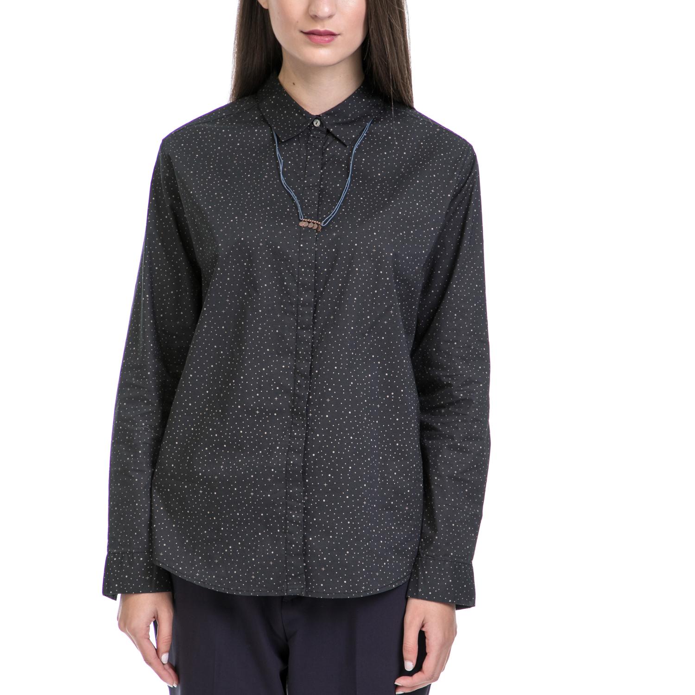 SCOTCH & SODA - Γυναικείο πουκάμισο MAISON SCOTCH μαύρο γυναικεία ρούχα πουκάμισα μακρυμάνικα