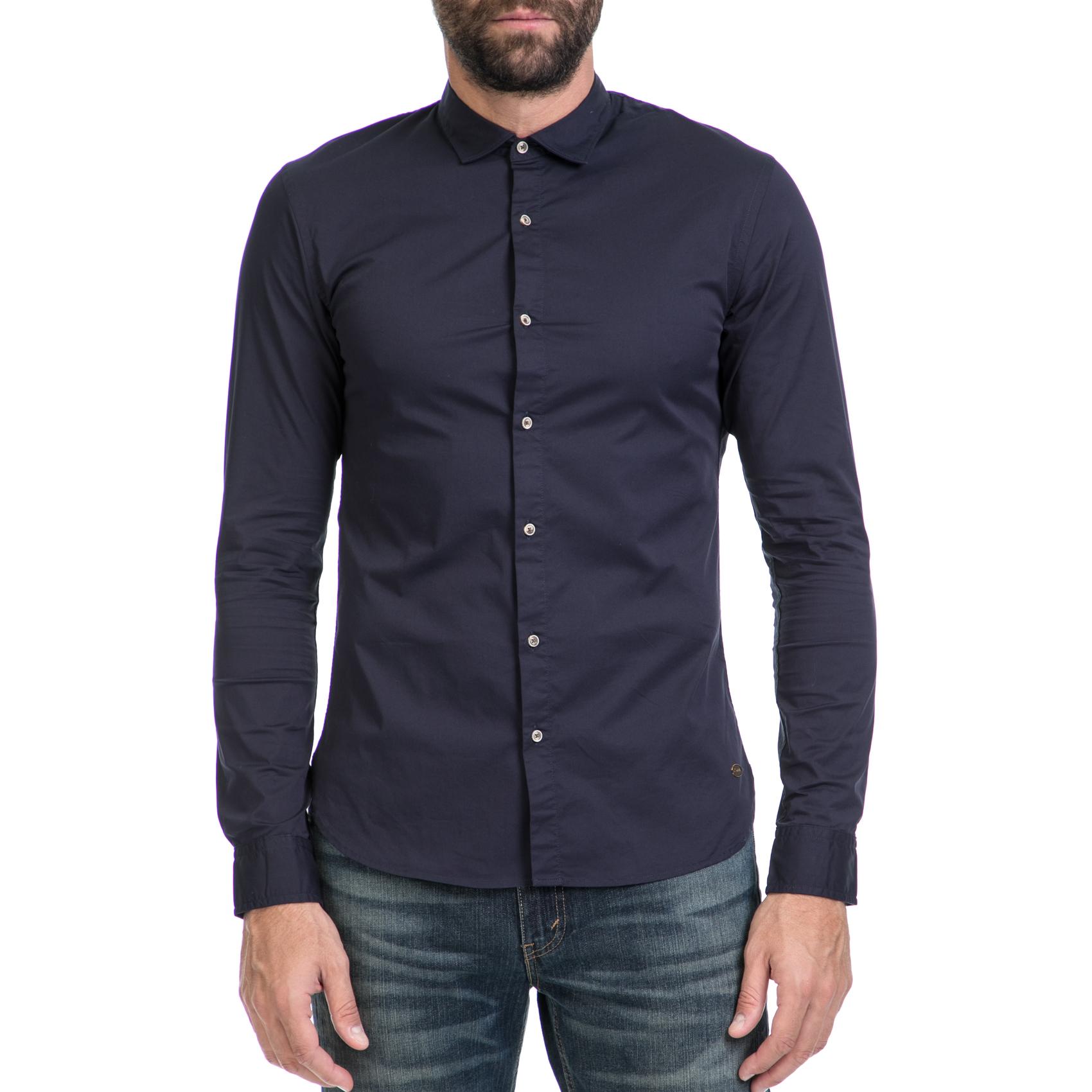 3720111d57f8 SCOTCH   SODA – Ανδρικό πουκάμισο SCOTCH   SODA μπλε 1467893.0-00G8 39