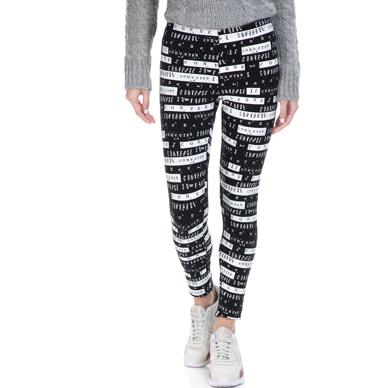 CONVERSE - Κολάν Converse Winter Legging ασπρόμαυρο γυναικεία ρούχα κολάν αθλητικά
