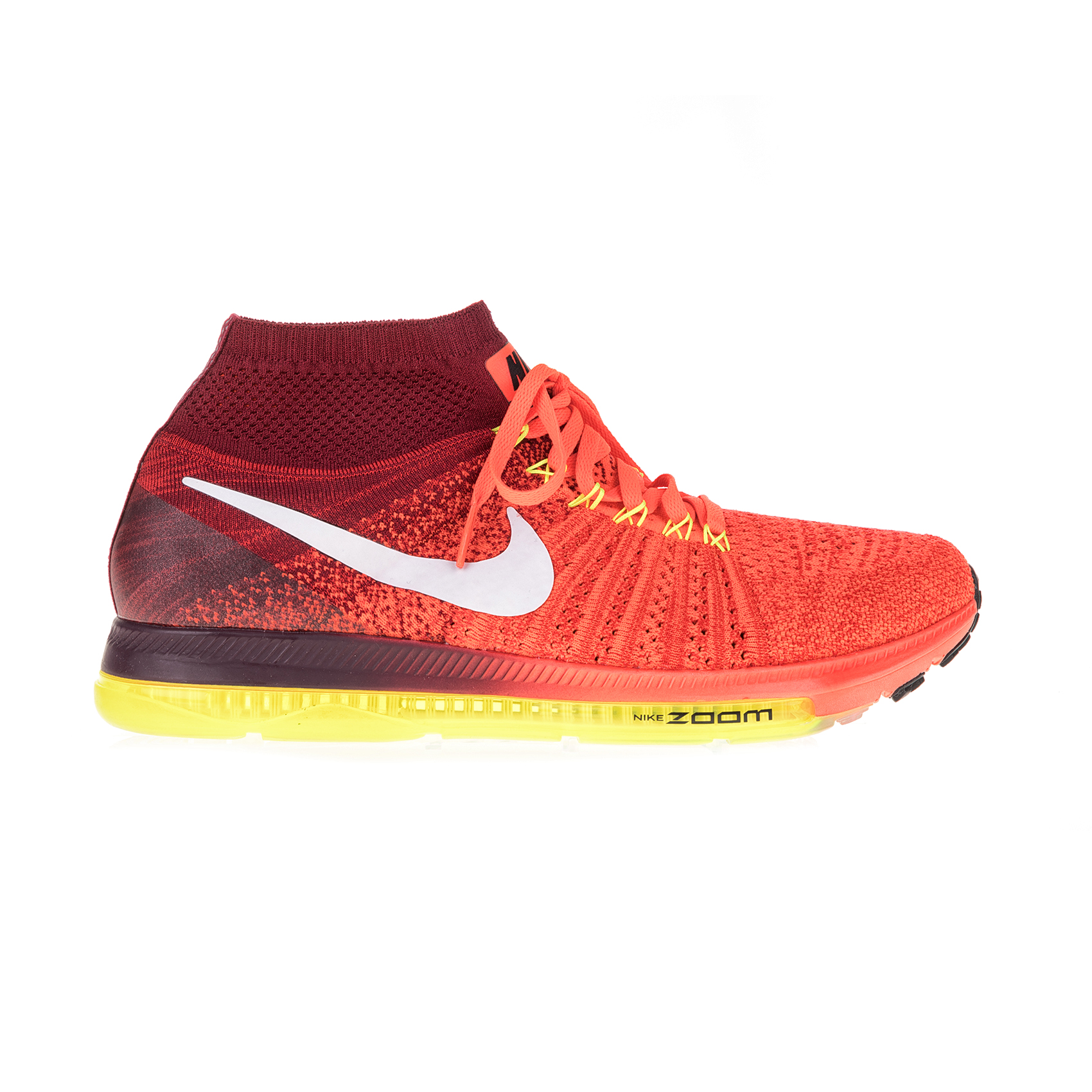 NIKE – Γυναικεία αθλητικά παπούτσια NIKE ZOOM ALL OUT FLYKNIT πορτοκαλί-κόκκινα