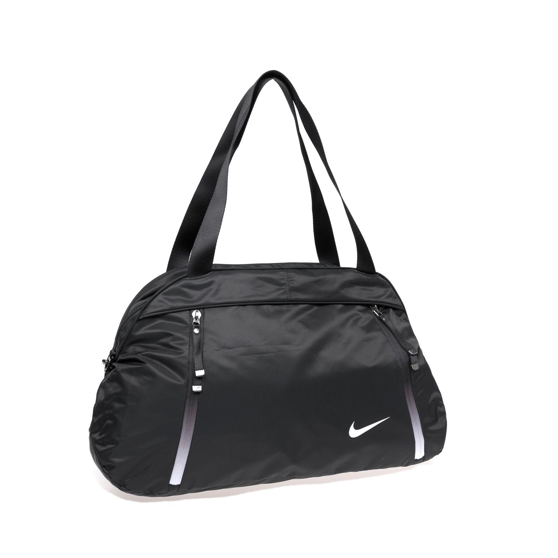 NIKE - Γυναικεία αθλητική τσάντα NΙKΕ AURA CLUB - SOLID μαύρη γυναικεία αξεσουάρ τσάντες σακίδια αθλητικές