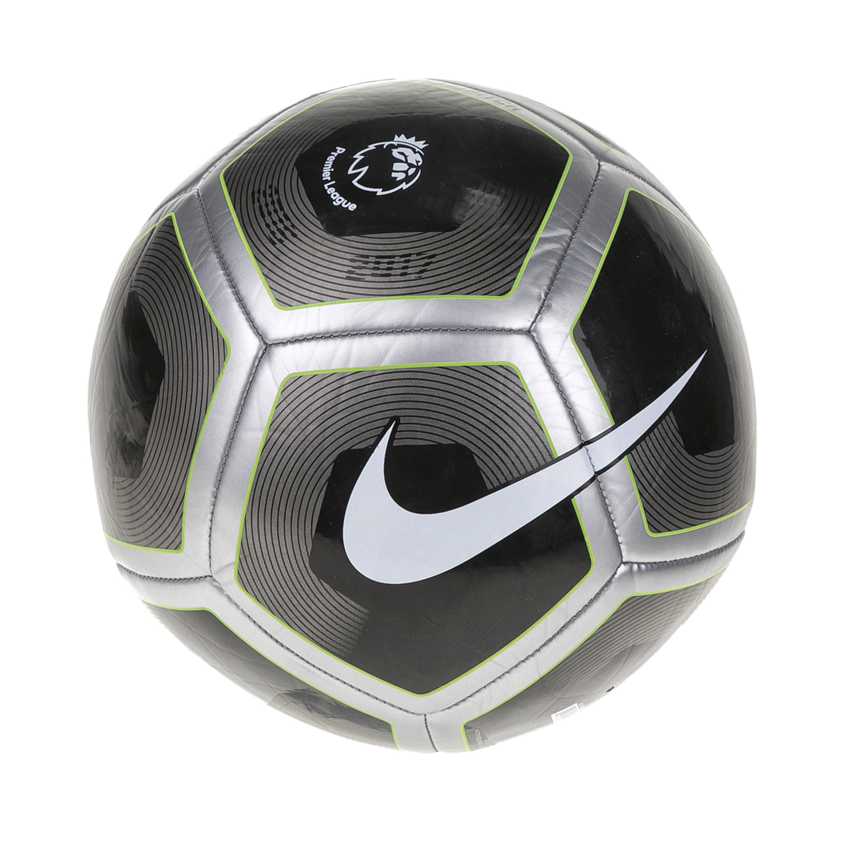NIKE - Μπάλα ποδοσφαίρου NIKE PITCH - PL μαύρη-ασημί ανδρικά αξεσουάρ αθλητικά είδη μπάλες