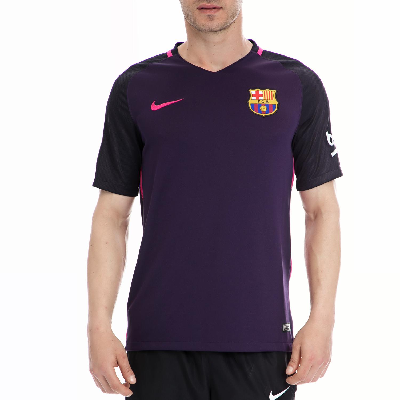 NIKE - Ανδρική μπλούζα NIKE μοβ ανδρικά ρούχα αθλητικά t shirt