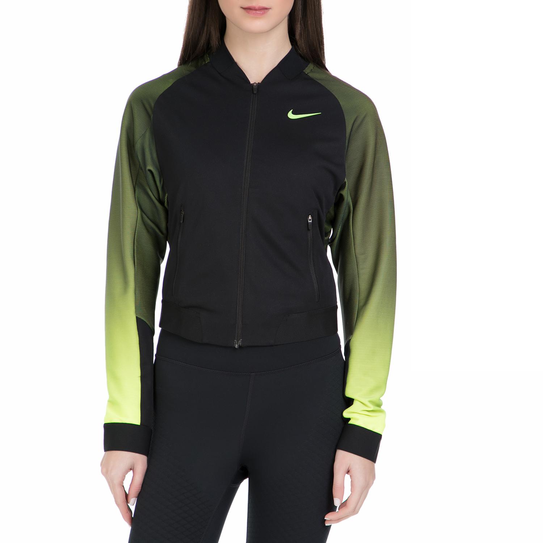 NIKE - Γυναικεία αθλητική ζακέτα για τένις Nike PREMIER μαύρη - κίτρινη γυναικεία ρούχα αθλητικά φούτερ μακρυμάνικα