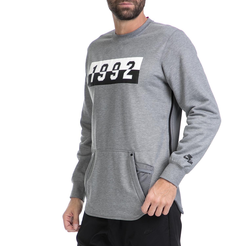 9a71ca4dcb55 NIKE - Ανδρική μπλούζα NΙΚΕ AIR CRW γκρι