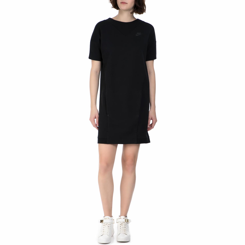 NIKE - Γυναικείο μίνι φόρεμα Nike Sportswear Tech Fleece μαύρο γυναικεία ρούχα φορέματα μίνι