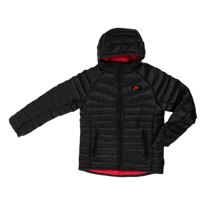 2382138a1bc NIKE - Αγορίστικο μακρυμάνικο μπουφάν Nike μαύρο, ΠΑΙΔΙ | ΡΟΥΧΑ | ΠΑΝΩΦΟΡΙΑ