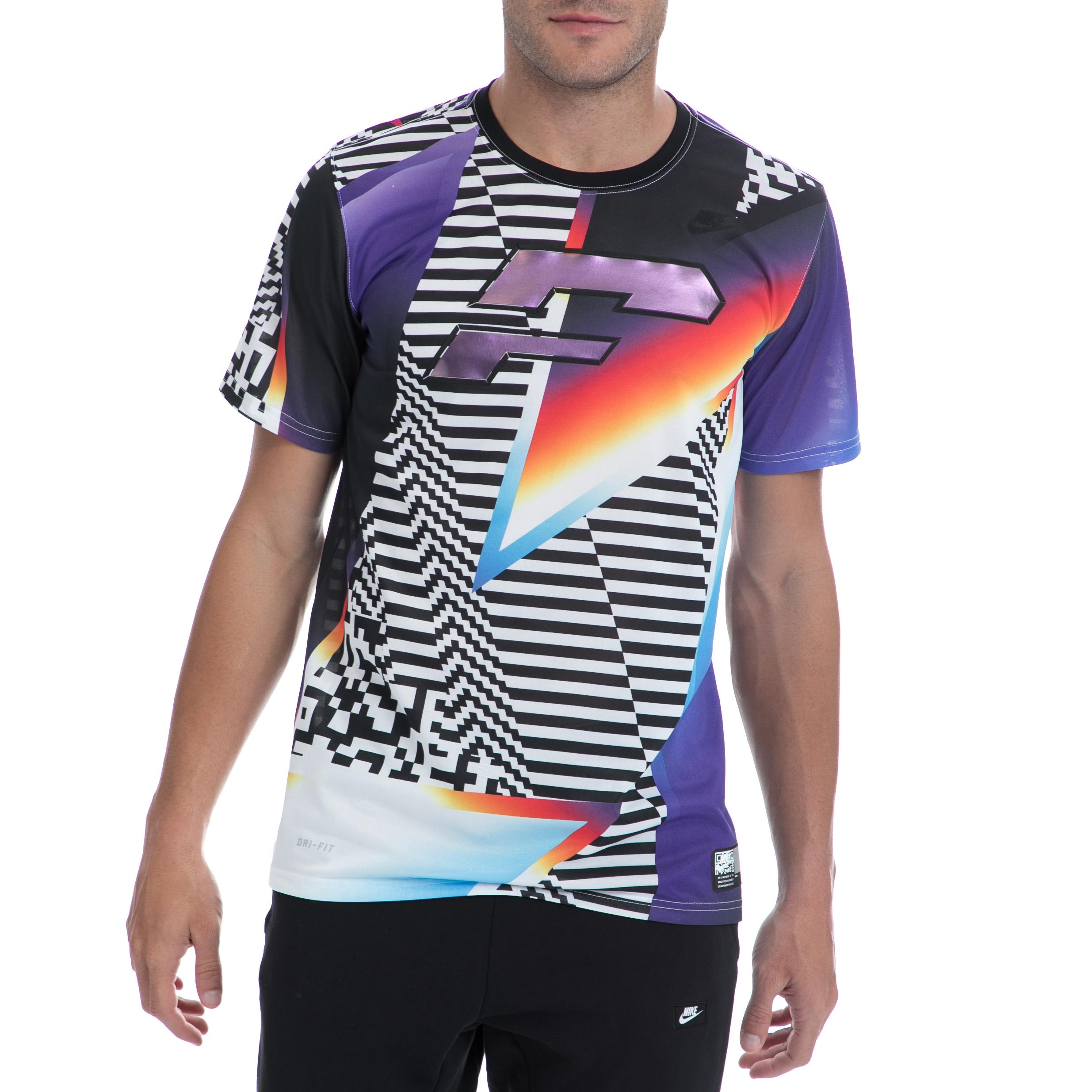 NIKE - Ανδρική μπλούζα NIKE πολύχρωμη