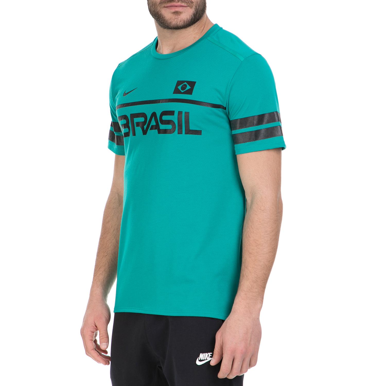 5754b4608102 NIKE - Κοντομάνικη μπλούζα Brasil Nike πράσινη