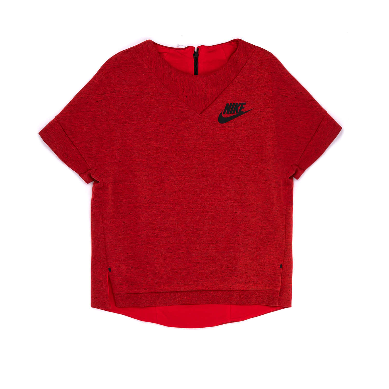NIKE - Παιδική μπλούζα NIKE κόκκινη παιδικά girls ρούχα αθλητικά