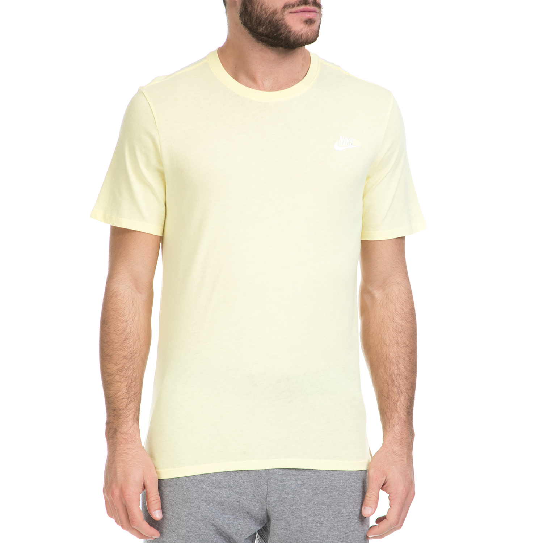 NIKE - Ανδρικό T-shirt ΝΙΚΕ NSW TEE CLUB EMBRD FTRA κίτρινο ανδρικά ρούχα αθλητικά t shirt