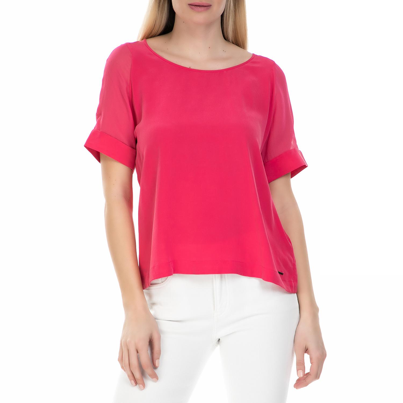 31777ad86abc CALVIN KLEIN JEANS - Γυναικεία κοντομάνικη μπλούζα Calvin Klein Jeans φούξια