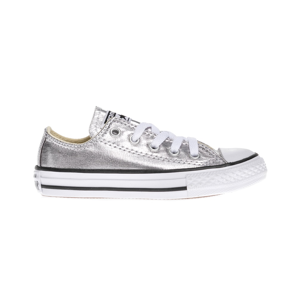 CONVERSE - Παιδικά παπούτσια Chuck Taylor All Star Ox ασημί