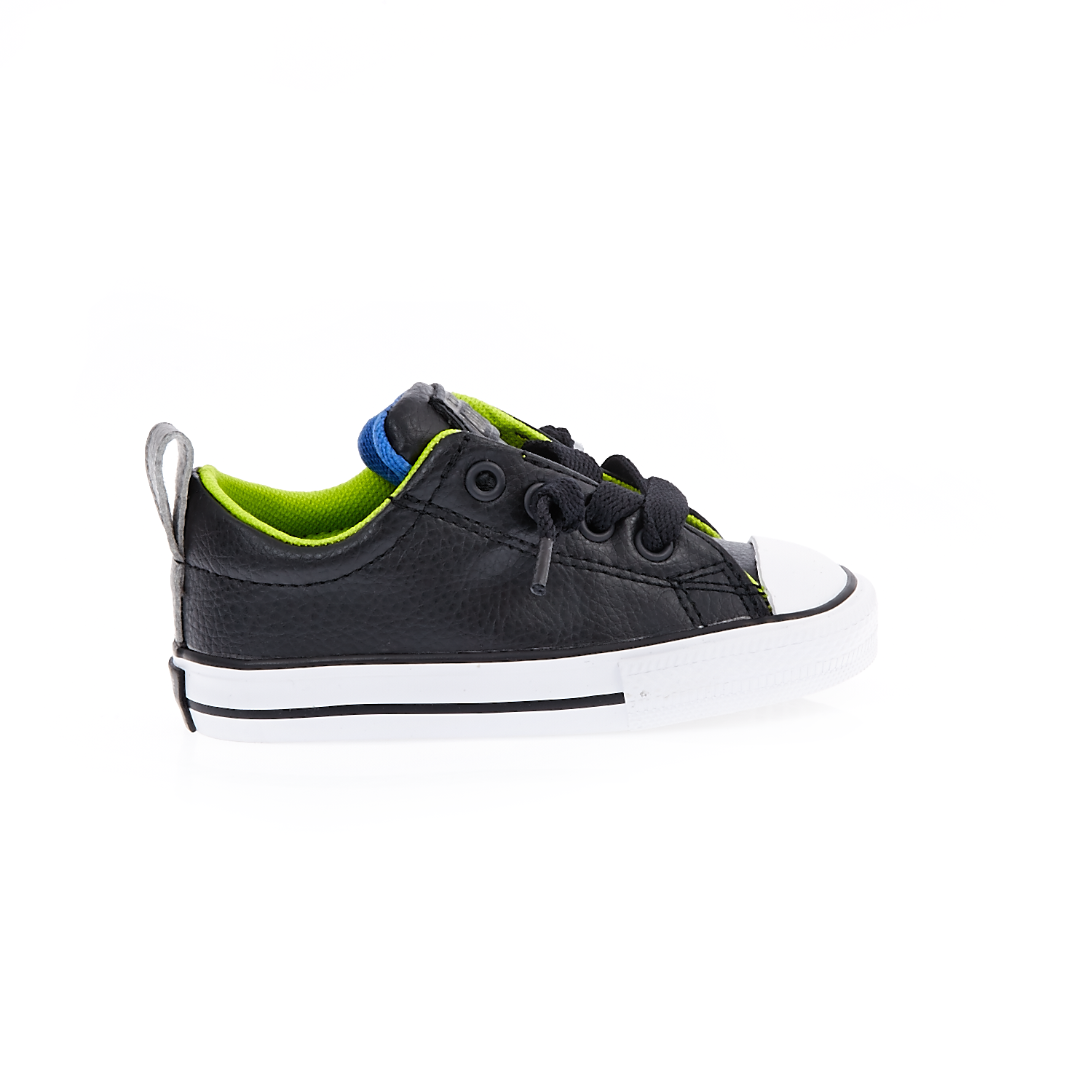 CONVERSE - Βρεφικά παπούτσια Chuck Taylor All Star Street S μαύρα παιδικά baby παπούτσια sneakers