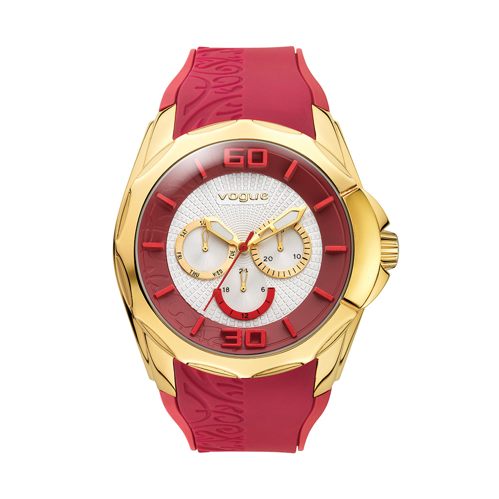 VOGUE - Γυναικείο ρολόι VOGUE μπορντώ 9ae7d69d1a5
