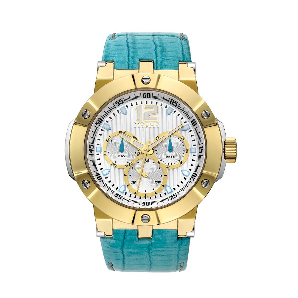 VOGUE - Γυναικείο ρολόι VOGUE πετρόλ γυναικεία αξεσουάρ ρολόγια δερμάτινα