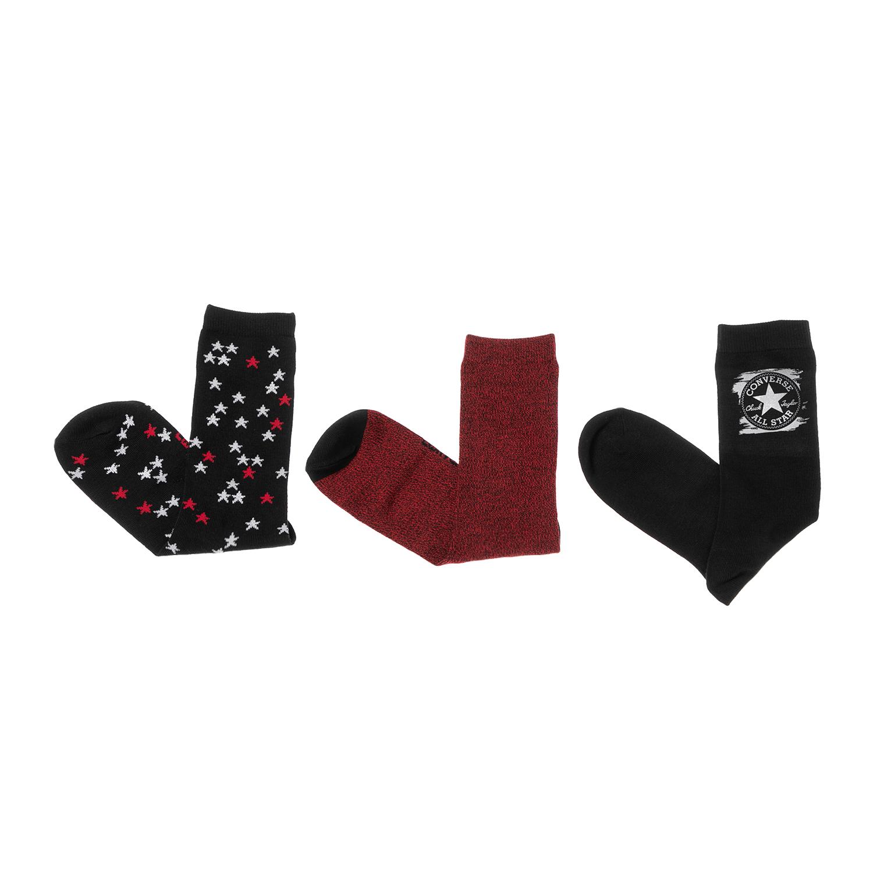 CONVERSE - Γυναικείο σετ κάλτσες CONVERSE κόκκινο-μαύρο γυναικεία αξεσουάρ κάλτσες