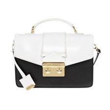 JUICY COUTURE-Γυναικεία τσάντα JUICY COUTURE μαύρο-άσπρο
