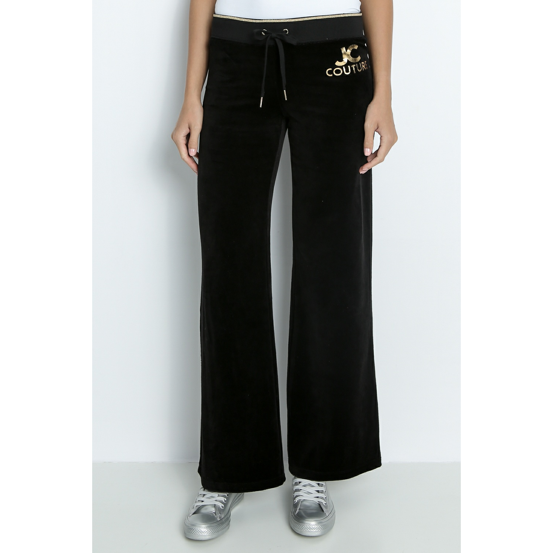 JUICY COUTURE - Γυναικείο παντελόνι φόρμας JUICY EAU DE COUTURE MALIBU μαύρο γυναικεία ρούχα παντελόνια φόρμες