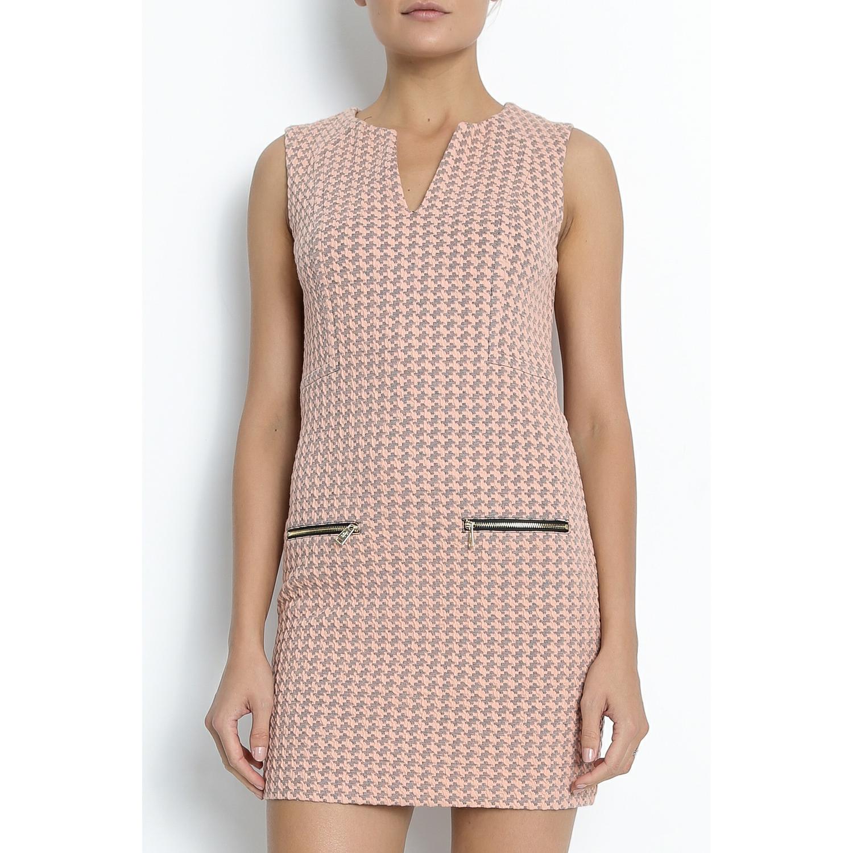 JUICY COUTURE - Μίνι φόρεμα Juicy ζακάρ ροζ