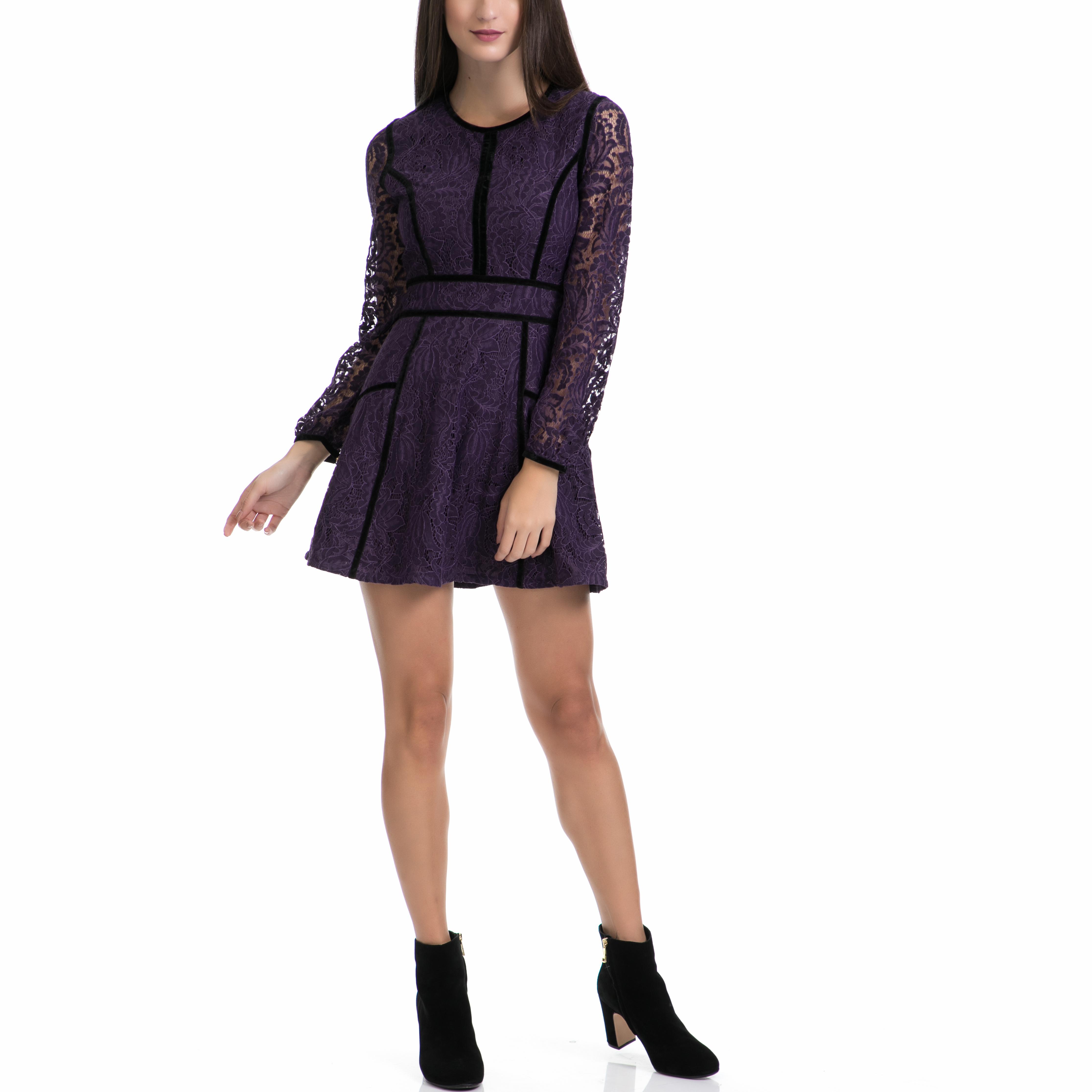 JUICY COUTURE - Φόρεμα JUICY COUTURE μωβ γυναικεία ρούχα φορέματα μίνι