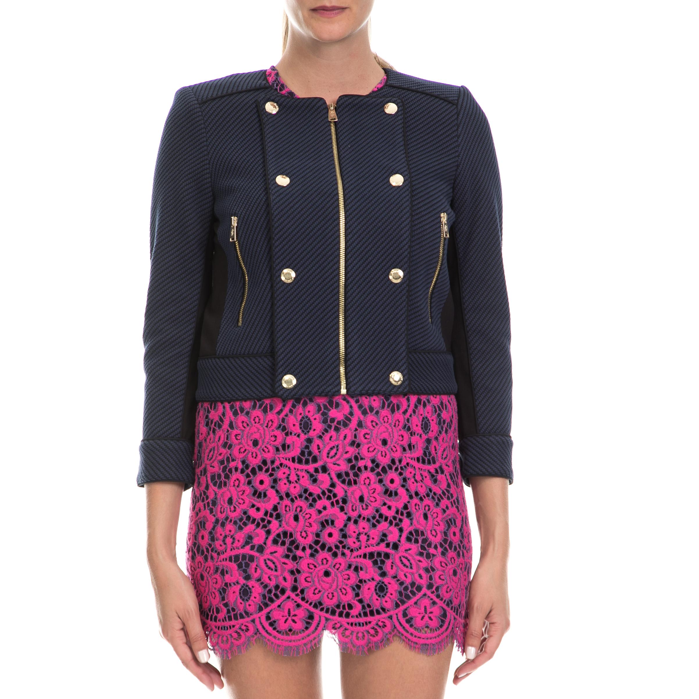 JUICY COUTURE - Γυναικείο σακάκι JUICY COUTURE μπλε γυναικεία ρούχα πανωφόρια σακάκια