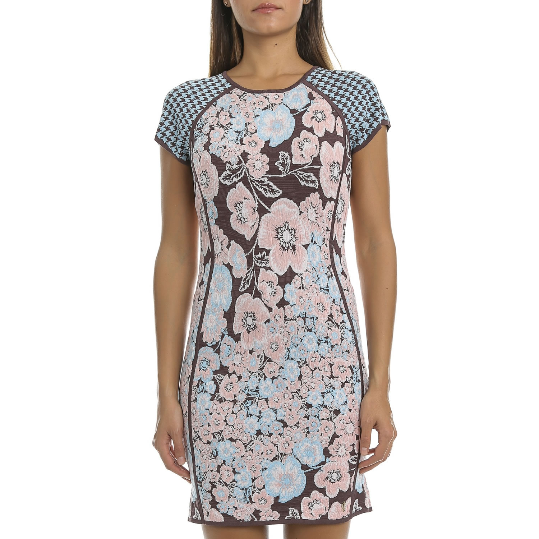 JUICY COUTURE - Μίνι φόρεμα JUICY JORDAN ζακάρ φλοράλ
