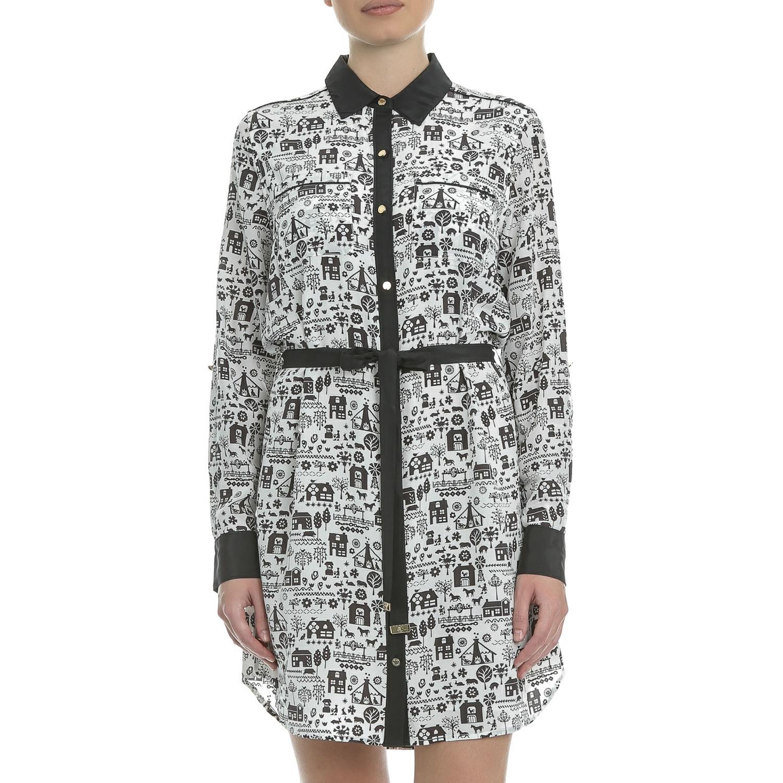 JUICY COUTURE - Μίνι φόρεμα JUICY MALMO LANDSCAPE ασπρόμαυρο γυναικεία ρούχα φορέματα μίνι