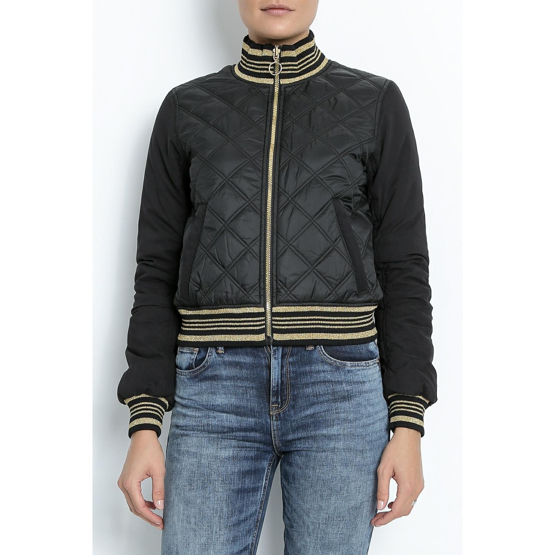 JUICY COUTURE - Γυναικείο jacket διπλής όψης JUICY μαύρο-χρυσό γυναικεία ρούχα πανωφόρια μπουφάν