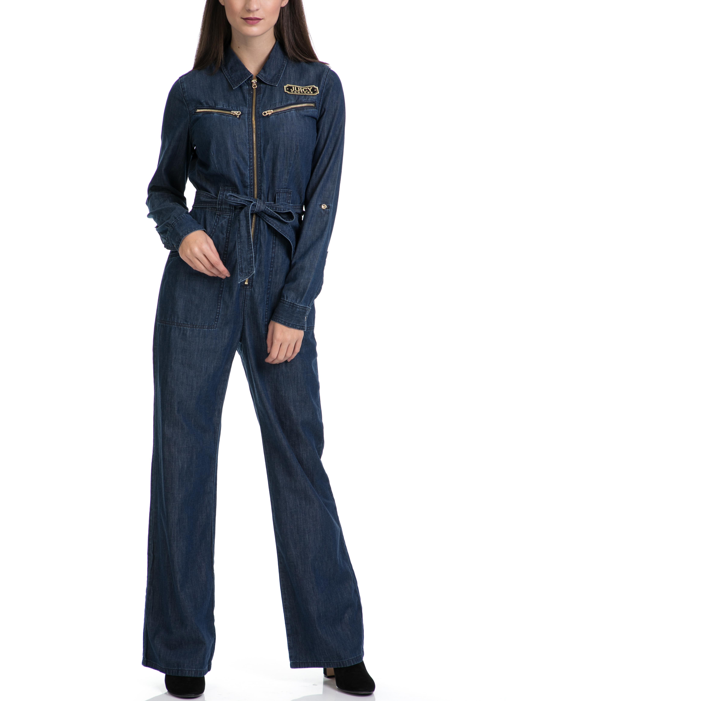 JUICY COUTURE - Ολόσωμη φόρμα JUICY COUTURE μπλε γυναικεία ρούχα ολόσωμες φόρμες