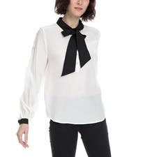 JUICY COUTURE-Γυναικείο πουκάμισο JUICY COUTURE λευκό-μαύρο