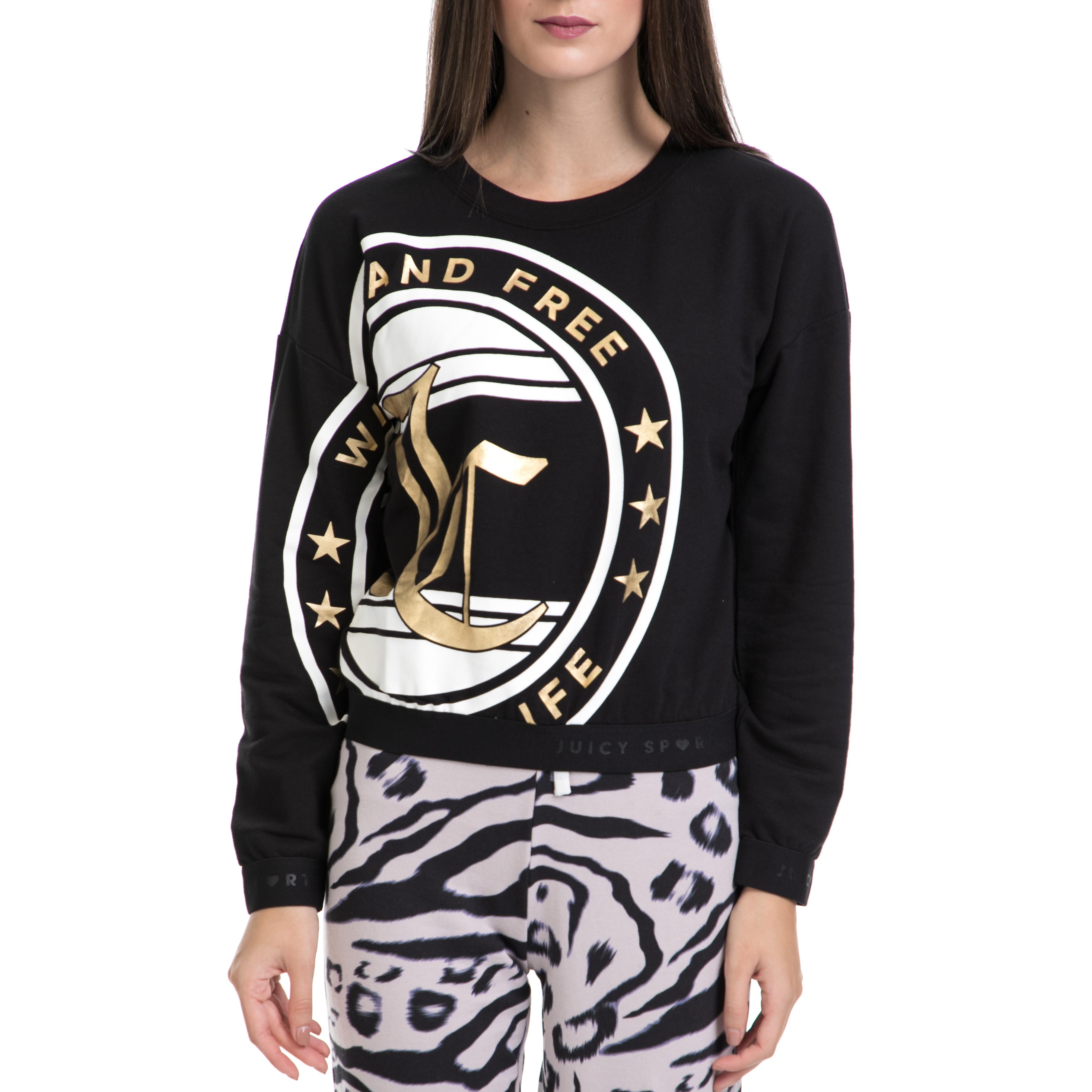 9f37f3be0a67 JUICY COUTURE – Γυναικείο πουλόβερ JUICY COUTURE μαύρο – Online Ρούχα