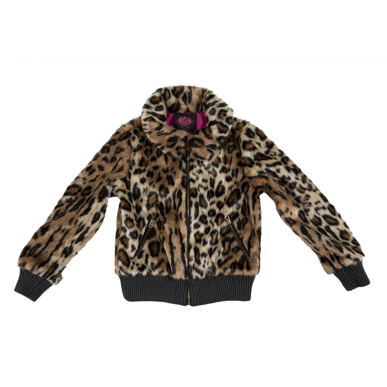 6c8ebec97c1 Factoryoutlet JUICY COUTURE KIDS - Κοριτσίστικο τζάκετ JUICY COUTURE KIDS  CHEETAH PONY FUR με λεοπάρ μοτίβο
