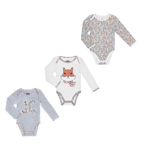 a31f14aa372 Βρεφικό σετ JUICY COUTURE KIDS εμπριμέ-γκρι-άσπρο (1475302.0-0092) |  Factory Outlet