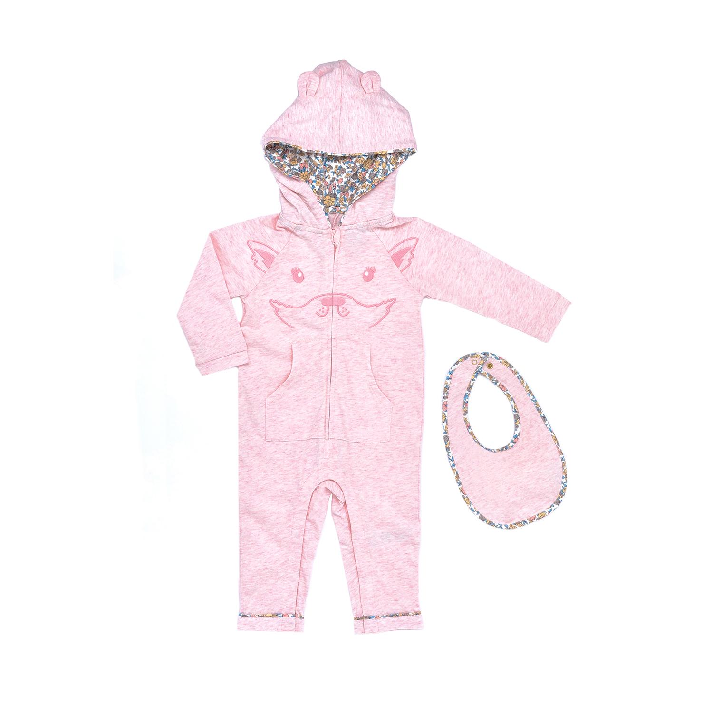 a64427f42d8 JUICY COUTURE KIDS - Βρεφικό φορμάκι JUICY COUTURE KIDS ροζ