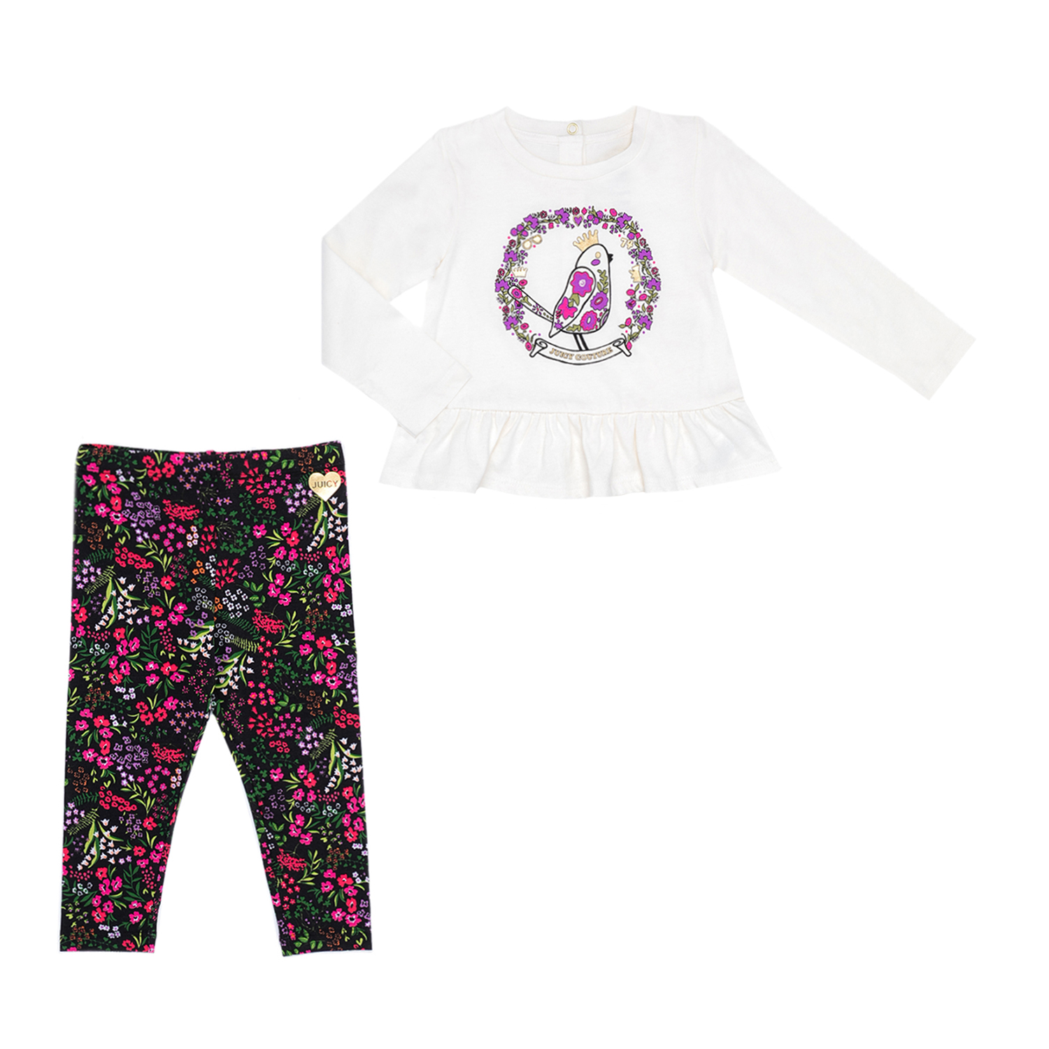 e39b40d70a1a Factoryoutlet JUICY COUTURE KIDS - Βρεφικό σετ JUICY COUTURE KIDS εμπριμέ