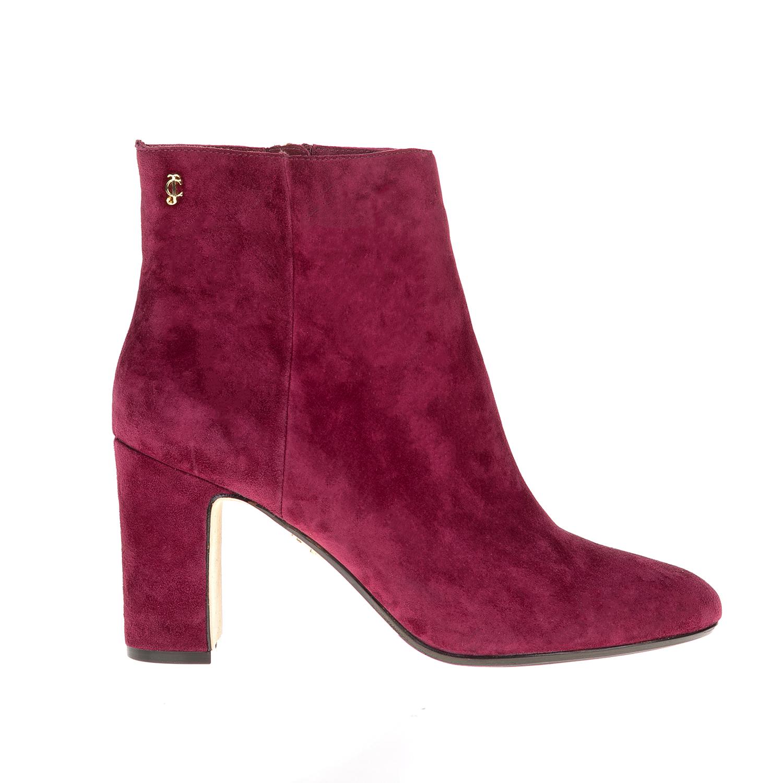 JUICY COUTURE - Γυναικεία μποτάκια JUICY COUTURE μπορντό γυναικεία παπούτσια μπότες μποτάκια μποτάκια