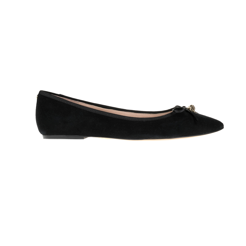 JUICY COUTURE - Γυναικεία παπούτσια JUICY COUTURE μαύρα γυναικεία παπούτσια μοκασίνια μπαλαρίνες μπαλαρίνες