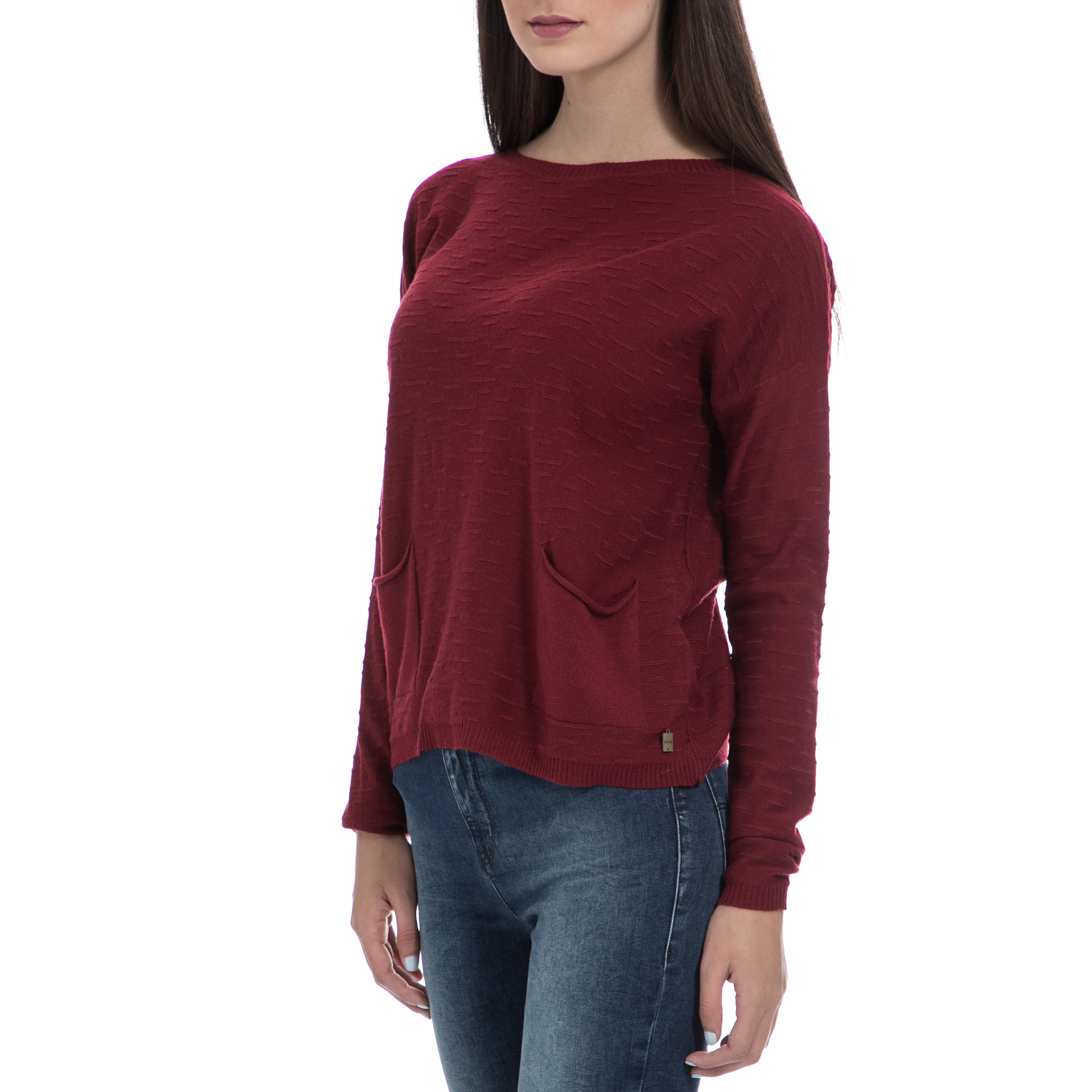 d4fa82a683c1 GAS - Γυναικεία μπλούζα GAS μπορντό