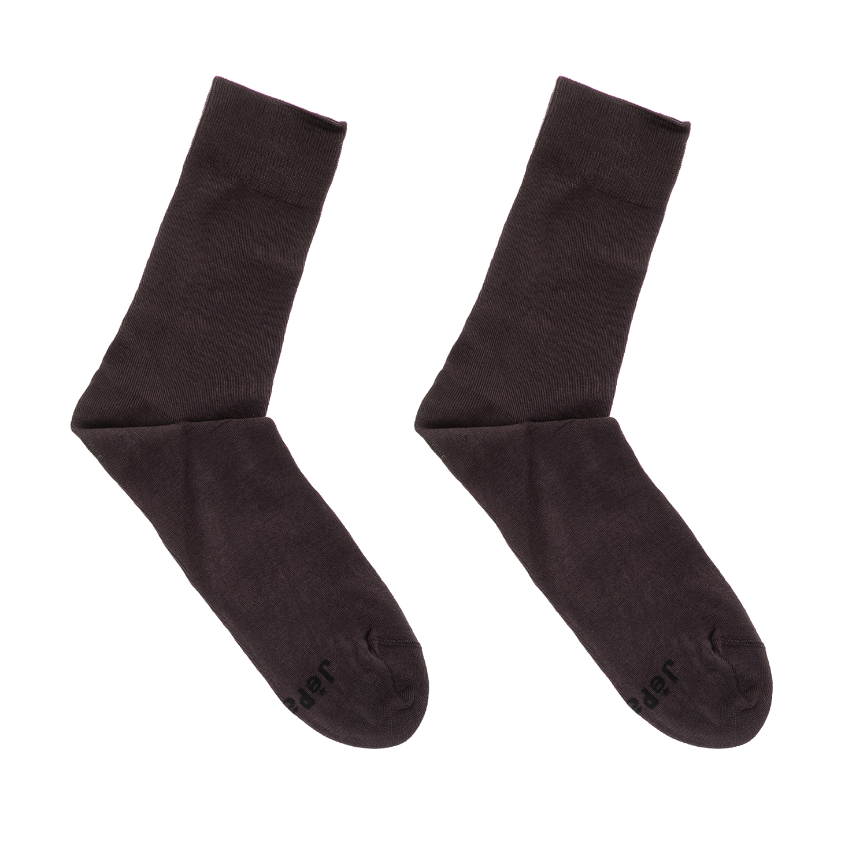 GSA - Ανδρικές κάλτσες MEN MERSERIZED ANKLE SOCKS GSA καφέ ανδρικά αξεσουάρ κάλτσες