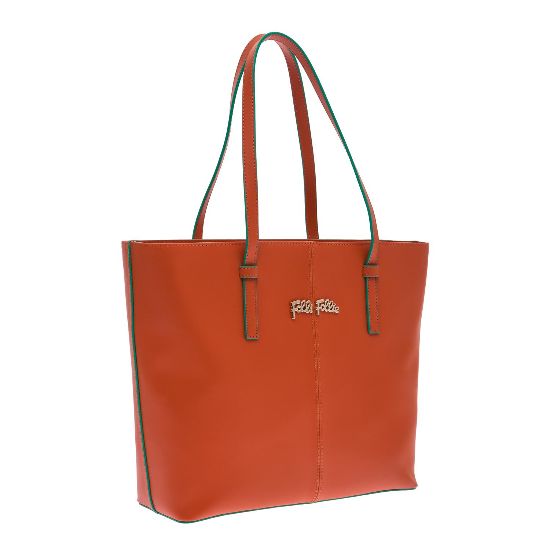 4c4b60f7778 FOLLI FOLLIE - Γυναικεία τσάντα Folli Follie πορτοκαλί