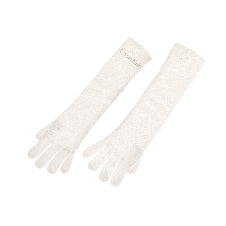 CALVIN KLEIN JEANS - Γυναικεία γάντια CALVIN KLEIN JEANS εκρού γυναικεία αξεσουάρ φουλάρια κασκόλ γάντια
