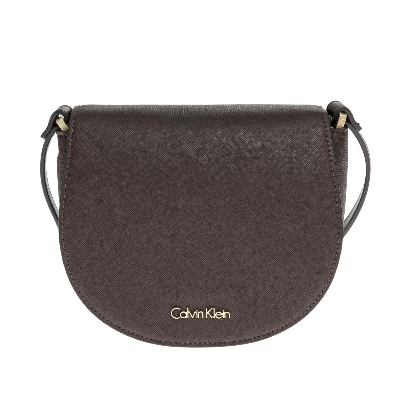 CALVIN KLEIN JEANS - Γυναικεία τσάντα CALVIN KLEIN JEANS καφέ γυναικεία αξεσουάρ τσάντες σακίδια ωμου