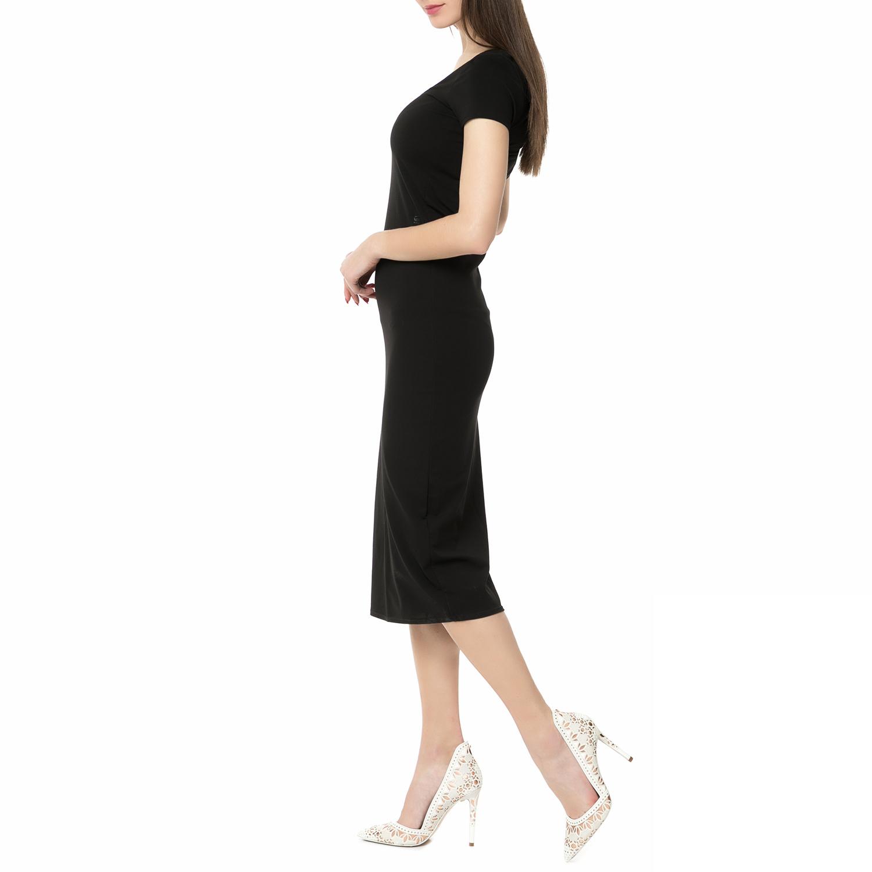 23d3bd890437 G-STAR RAW - Γυναικείο midi φόρεμα Gespe G-STAR RAW μαύρο