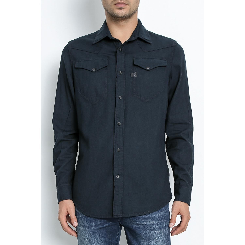 G-STAR RAW - Ανδρικό πουκάμισο G-Star Raw Tacoma Shirt denim μπλε ανδρικά ρούχα πουκάμισα μακρυμάνικα
