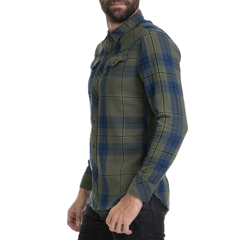 8f21b87525b6 G-STAR - Ανδρικό πουκάμισο Tacoma G-STAR χακί-μπλε
