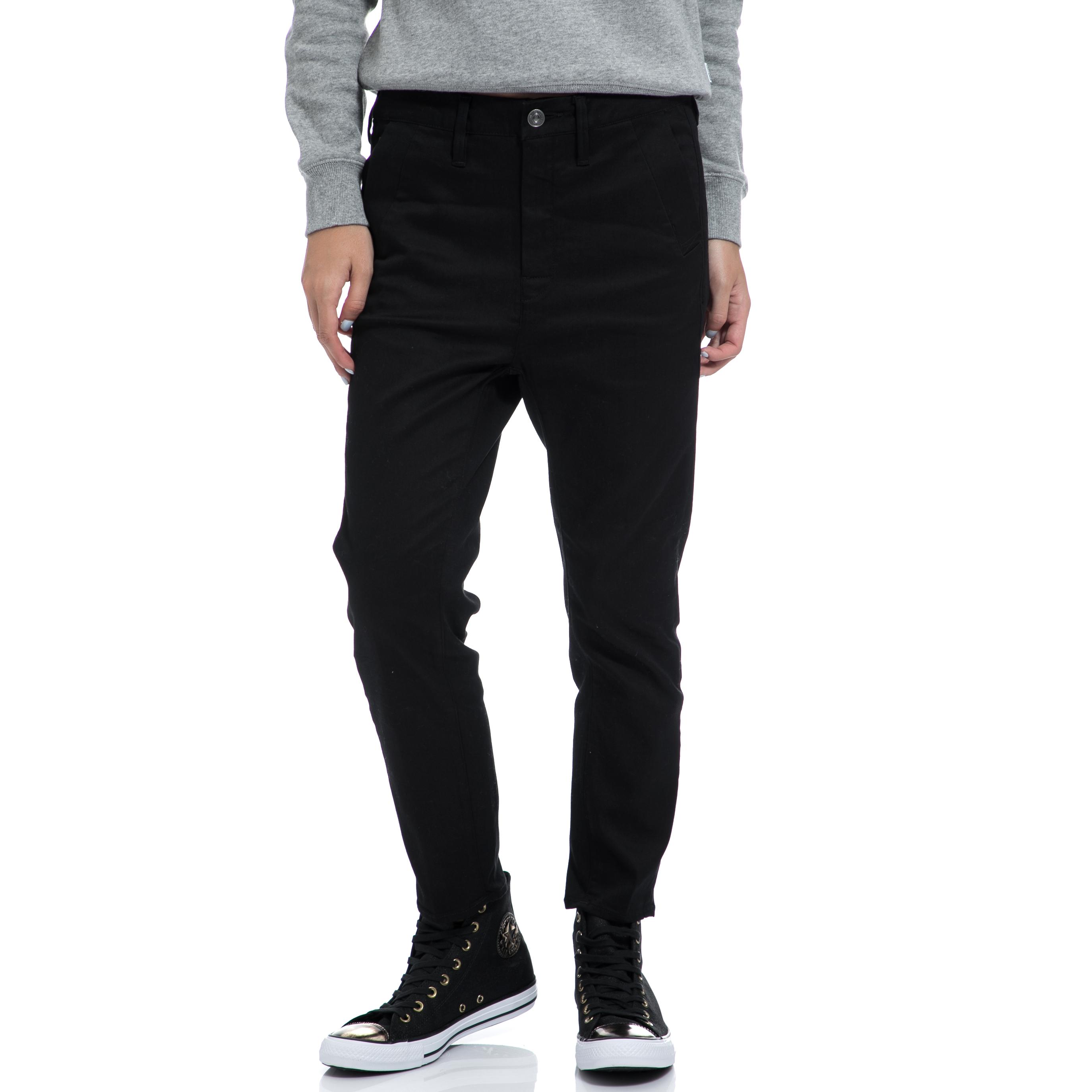 G-STAR RAW - Γυναικείο παντελόνι G-STAR RAW μαύρο γυναικεία ρούχα παντελόνια ισια γραμμή