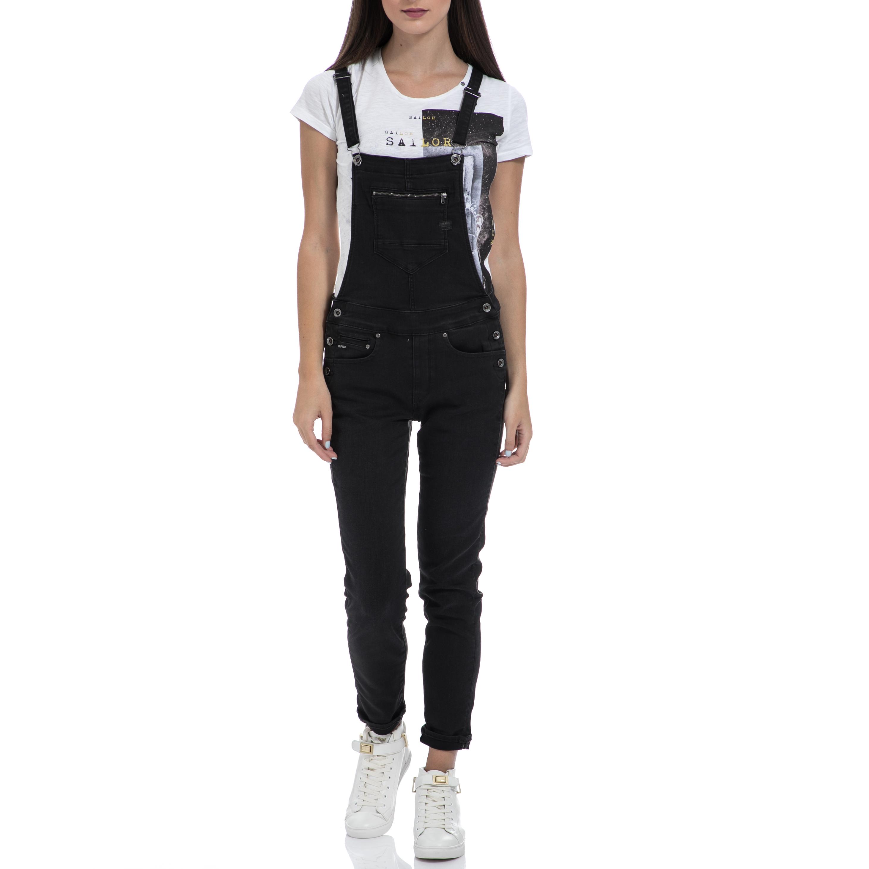 G-STAR RAW - Ολόσωμη φόρμα G-STAR RAW μαύρη γυναικεία ρούχα ολόσωμες φόρμες
