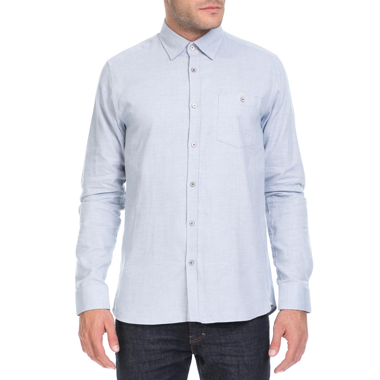 TED BAKER - Ανδρικό πουκάμισο JOESEPH TED BAKER μπλε ανδρικά ρούχα πουκάμισα μακρυμάνικα
